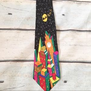 Other - 🌿5for$25🌿 Cityscape Santa Clause Holiday Tie
